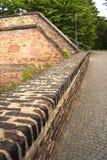 Castillo superior - galería - almenajes Imagenes de archivo