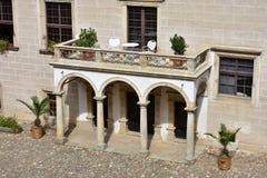 Castillo Telc, República Checa Fotos de archivo libres de regalías