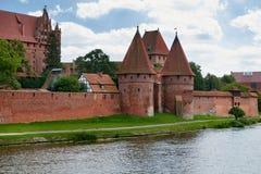 Castillo teutónico de los caballeros en Malbork fotografía de archivo