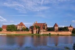 Castillo teutónico en Malbork foto de archivo libre de regalías