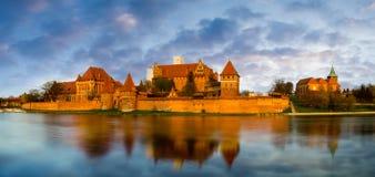 Castillo teutónico en Malbork (Marienburg) Imágenes de archivo libres de regalías