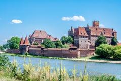 Castillo teutónico en Malbork, Polonia Foto de archivo