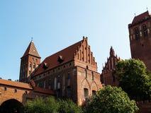 Castillo teutónico viejo en Kwidzyn, región de Pomezania, Polonia Fotografía de archivo libre de regalías