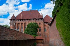 Castillo teutónico en Malbork Fotos de archivo libres de regalías