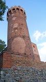 Castillo teutónico medieval en Polonia Foto de archivo