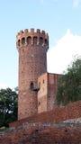 Castillo teutónico medieval en Polonia Foto de archivo libre de regalías