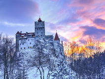 Castillo tradicional del salvado, Rumania fotografía de archivo
