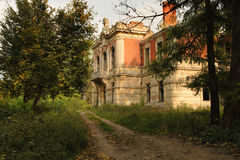 Castillo viejo abandonado Imágenes de archivo libres de regalías