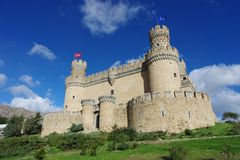 Castillo viejo de Manzanares el Real imagen de archivo libre de regalías