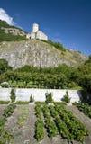 Castillo viejo de Martigny Foto de archivo libre de regalías