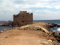 castillo viejo de Phafos Chipre imagen de archivo