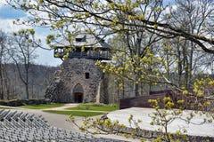 Castillo viejo de Sigulda Foto de archivo