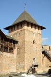Castillo viejo en la ciudad Lutsk en invierno imágenes de archivo libres de regalías