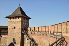 Castillo viejo en la ciudad Lutsk en invierno fotografía de archivo libre de regalías