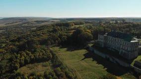 Castillo viejo en la colina, castillo de Pidhirtsi almacen de metraje de vídeo