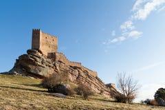 Castillo viejo en Molina de Aragon, España Foto de archivo libre de regalías