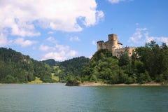 Castillo viejo en Polonia Foto de archivo libre de regalías