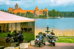 Castillo viejo medieval en Trakai, Lituania Fotos de archivo
