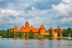 Castillo viejo medieval en Trakai, Lituania imagen de archivo libre de regalías