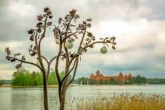 Castillo viejo medieval en Trakai, Lituania fotografía de archivo libre de regalías
