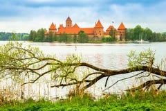 Castillo viejo medieval en Trakai, Lituania foto de archivo