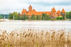 Castillo viejo medieval en Trakai, Lituania Fotos de archivo libres de regalías