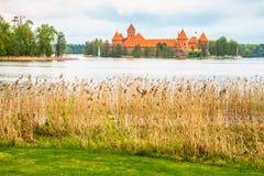 Castillo viejo medieval en Trakai, Lituania Imágenes de archivo libres de regalías