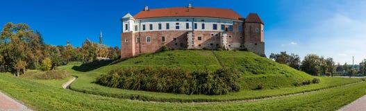 Castillo viejo a partir del siglo XIV en Sandomierz fotografía de archivo libre de regalías