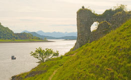 Castillo Wester Ross de Strome. Imagenes de archivo