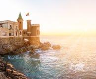 Castillo Wulff i Vina del Mar, Chile Royaltyfria Bilder