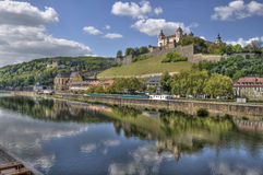 Castillo Wurzburg de Marienberg imagen de archivo