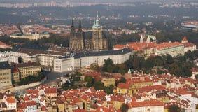 Castillo y catedral de Praga Foto de archivo libre de regalías