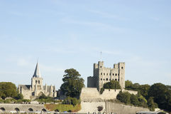 Castillo y catedral de Rochester Fotografía de archivo libre de regalías