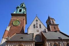 Castillo y catedral, Kraków de Wawel Imagenes de archivo