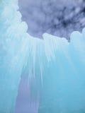 Castillo y cielo del hielo en New Hampshire Fotos de archivo libres de regalías