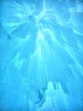 Castillo y cielo del hielo en New Hampshire foto de archivo