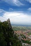 Castillo y ciudad Imagen de archivo libre de regalías