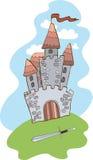 Castillo y espada Imagen de archivo libre de regalías
