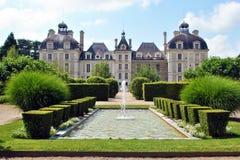 Castillo y jardín de Cheverny fotos de archivo libres de regalías