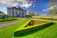 Castillo y jardines de Portumna en Co. Galway Imágenes de archivo libres de regalías