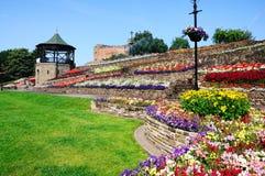 Castillo y jardines de Tamworth foto de archivo libre de regalías