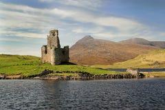 Castillo y lago Assynt de Ardvreck Fotografía de archivo