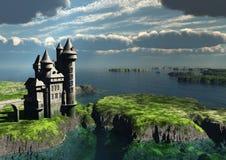 Castillo y mar Foto de archivo libre de regalías