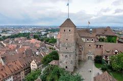 Castillo y paisaje urbano, nurnberg Fotos de archivo