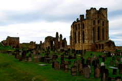 Castillo y priorato de Tynemouth Foto de archivo libre de regalías