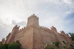 Castillo y pueblo medievales, Gradara, Italia Fotos de archivo