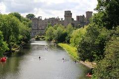 Castillo y río de Warwick Imagen de archivo