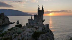 Castillo Yalta, Crimea de la jerarquía del trago almacen de metraje de vídeo