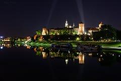 Castillo Zamek Krolewski - Kraków, Polonia de Wawel Imagen de archivo libre de regalías