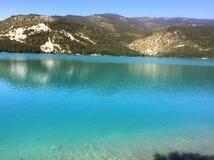 Castillon湖 库存照片